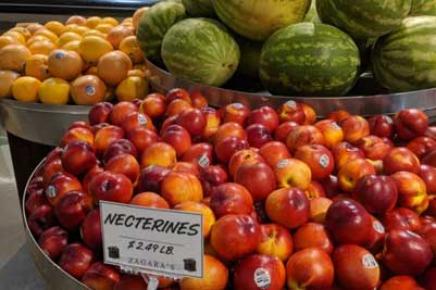 nectarines at Zagara's Marketplace